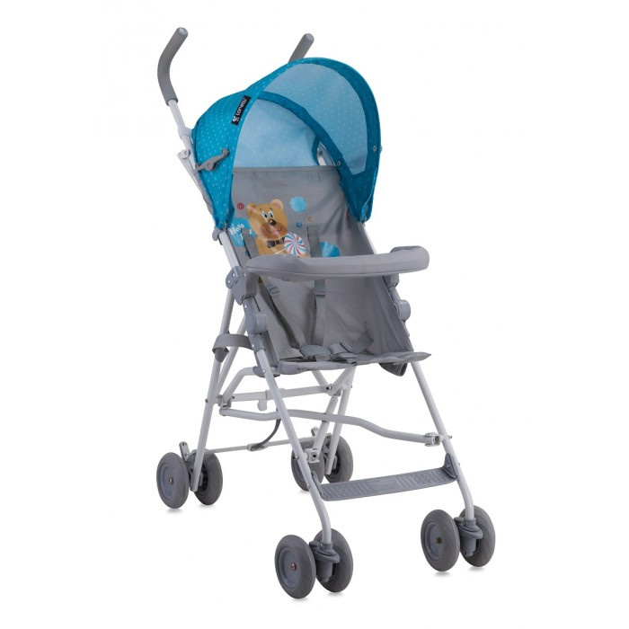 Детская коляска Lorelli Light Blue Grey Hello Bear 10020471718